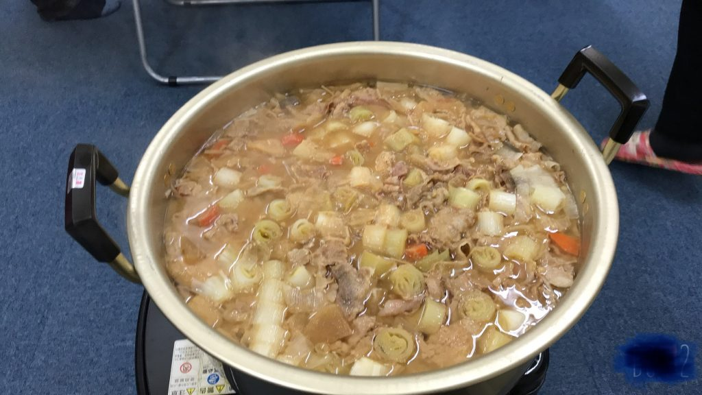 名古屋のボクシングジムUNOの豚汁